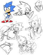 Sonic Mega Drive artwork 1