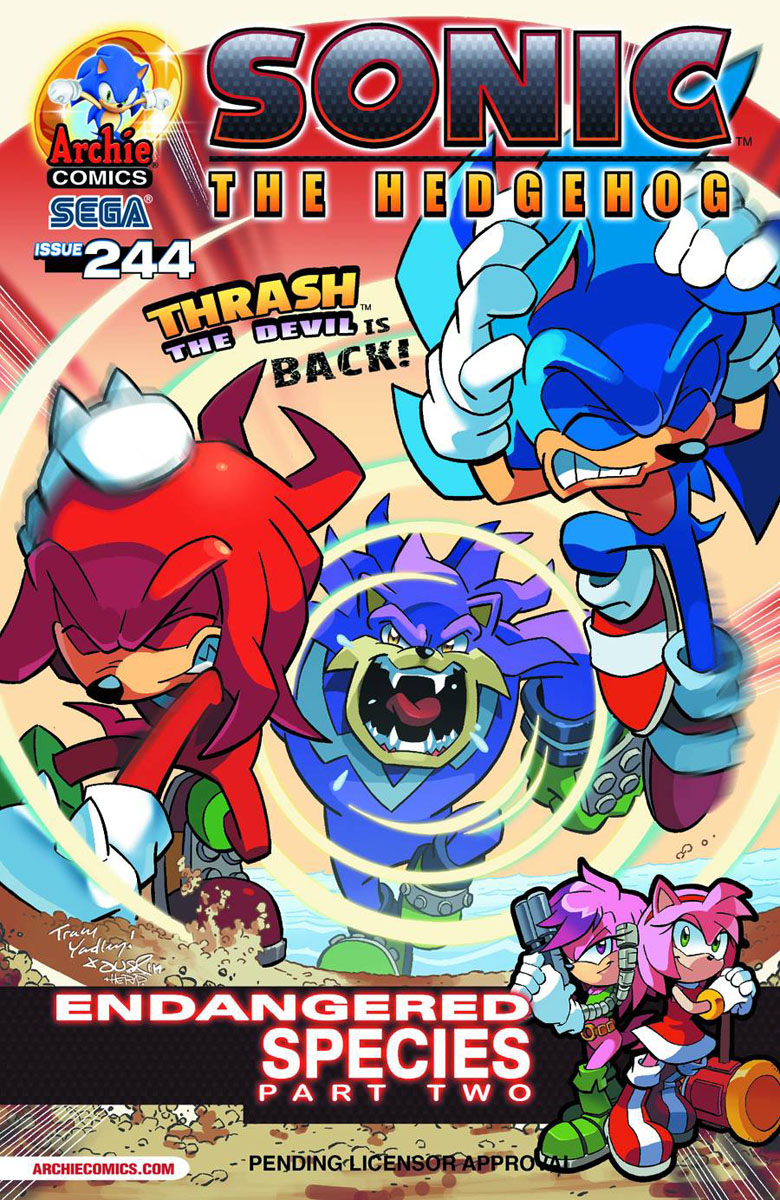 Archie Sonic The Hedgehog Issue 244 Sonic News Network
