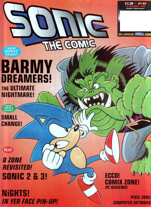 sonic the comic issue 88 sonic news network fandom