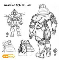 Concepto de jefe de Red Sands.