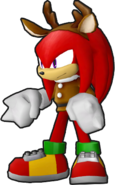 Sonic Runners Christmas Knuckles Model