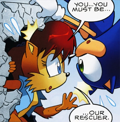 Sally And Sonic Make Out