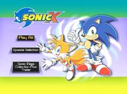 Sonic X Volume 10 main menu