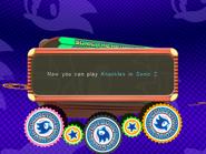 Knuckles in Sonic 2 unlocked