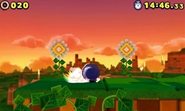 Spin Dash in Sonic Lost World 3DS