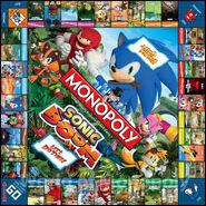 Sonic Boom Monopoly board