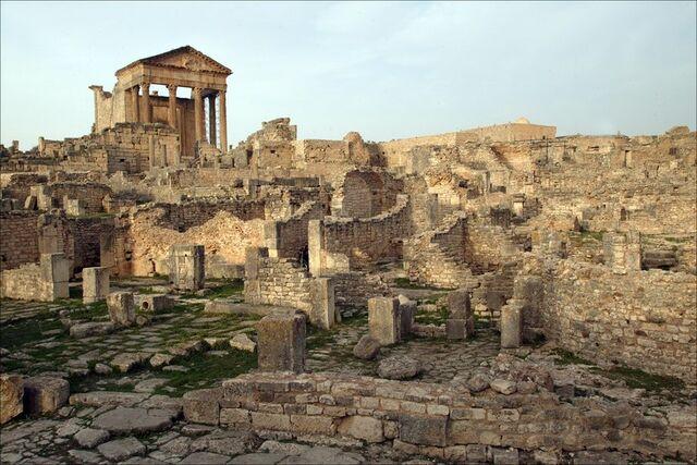File:Roman-city-ruins-dougga.jpg