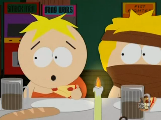 File:Kenny with scarf next to butters.png
