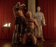 Spartacus forced to kill varro