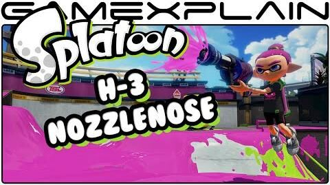 Splatoon - H-3 Nozzlenose DLC Weapon Tour!