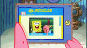 Patrick Star Checks His Instaclam 05