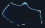 Bikini Atoll 2001-01-14, Landsat 7 ETM , bands 3-2-1-8