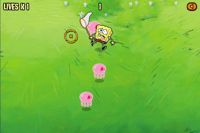 File:Capture Craze SpongeBob getting hurt by jellyfish.png