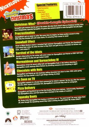 Christmas DVD Back Cover