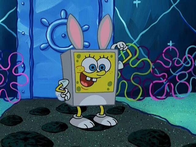 File:Spongebob Wearing 1 Bunny Costume.jpg