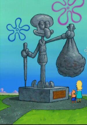 Squilliam's Statue