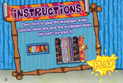 Decorating Dilemma - Instructions screen