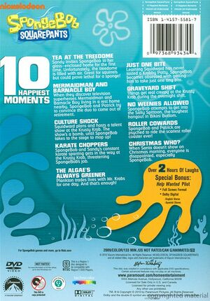 10 Happiest Moments DVD Back Cover