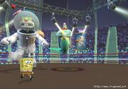 3d Giant Robot Sandy, 3d Spongebob, & 3d King Neptune
