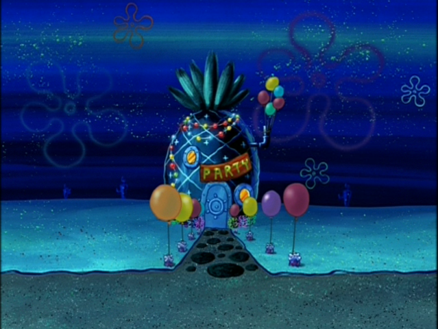 File:SpongeBob's pineapple house in Season 3-5.png