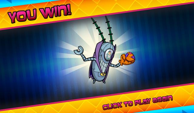 File:Bikini Bottom Brawlers Plankton robot in purple cape you win.png