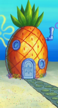 SpongeBob's pineapple house in Season 7-2