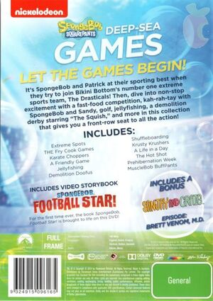 Deep-Sea Games DVD Back Cover