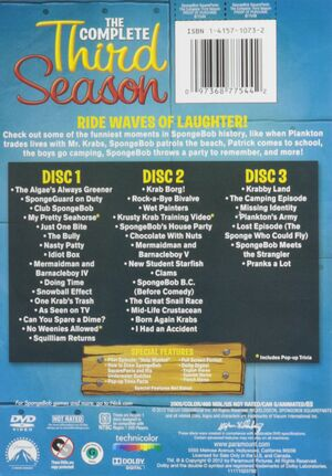 Complete Third Season DVD Back Cover