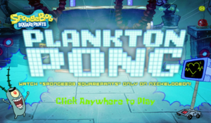 Plankton Pong new title screen