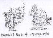 Barnacle mermaid