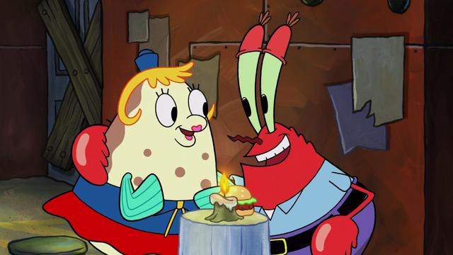 File:SpongeBob SquarePants Mrs Puff and Mr Krabs Talking.png