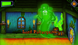 Lord Poltergeist in Nickelodeon Mystery Mansion