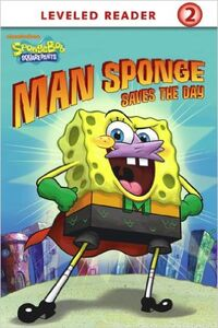 Man Sponge Saves The Day Kindle Cover