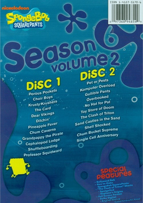 Season 6 Volume 2 DVD Back Cover