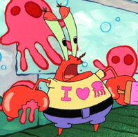 Mr. Krabs Wearing a T-Shirt