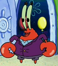 Mr. Krabs Wearing a Coat