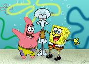 Pat s. spongebob s. squidward t.