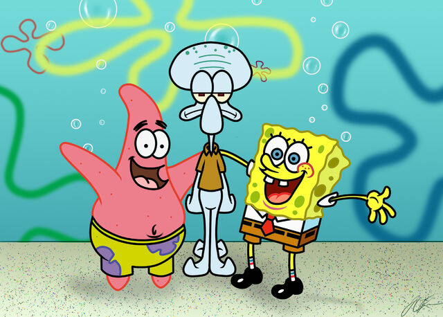 File:Pat s. spongebob s. squidward t..jpg