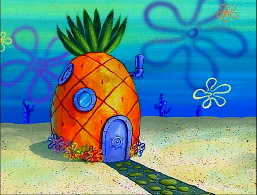 Spongebob pineapple house clipart - ClipartFest