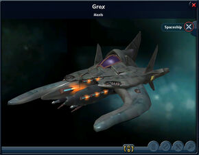 Grox Spaceship from Spore