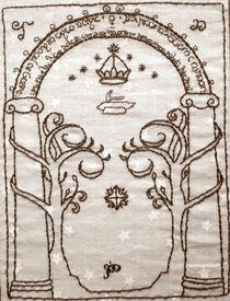 Moria gate embroidment