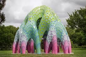 Vaulted Willow, Permanent Public Art Pavilion, Borden Park, Edmonton, Canada