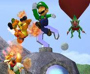 Fire Jump Punch Luigi SSBM
