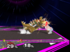 Bowser Floor attack (front) SSBM