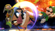 Wario Toon Link Luigi