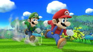 Mario and Luigi runners poses