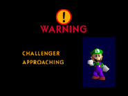 Challenger Approaching Luigi(SSB)