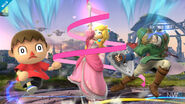 Peach with Villager and Link