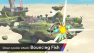 Sheik smash bouncing fish large