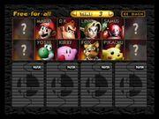 SSB 64 starting roster